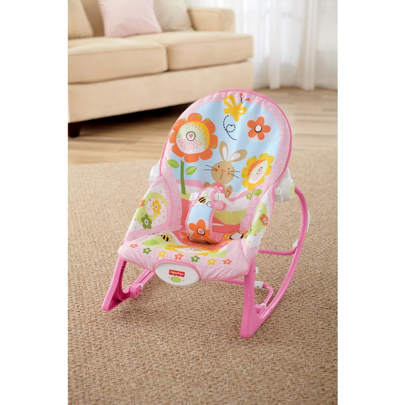Hamaca Columpio de Fisher Price Crece Conmigo en Color Rosa