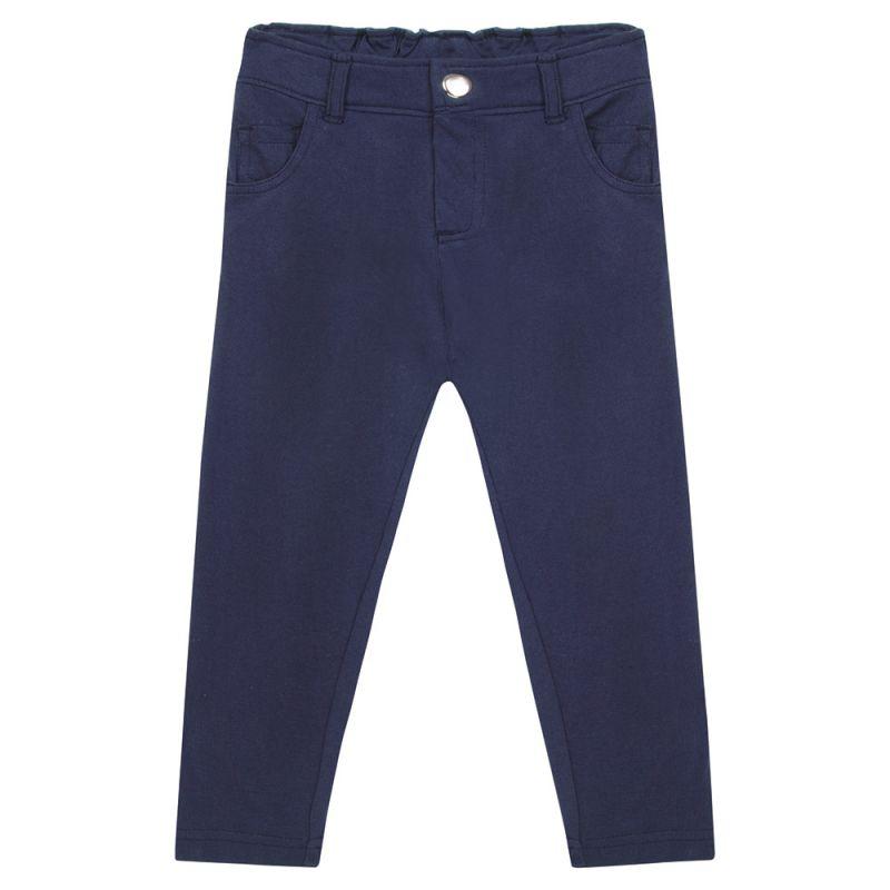 Pantalón de niña de corte slim en color Azul marino