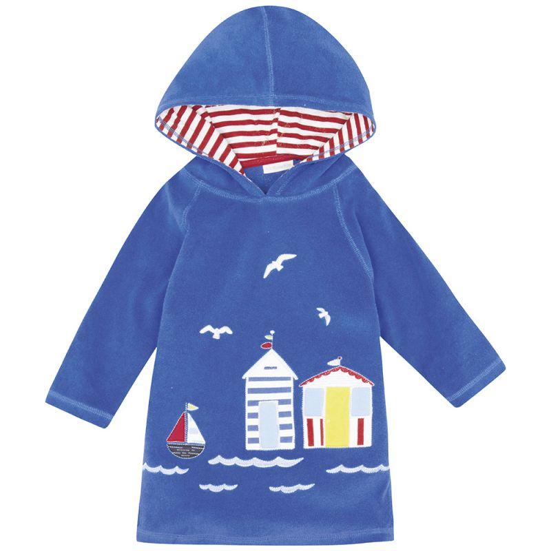 Albornoz de Niños Playa y Piscina - Color Azul