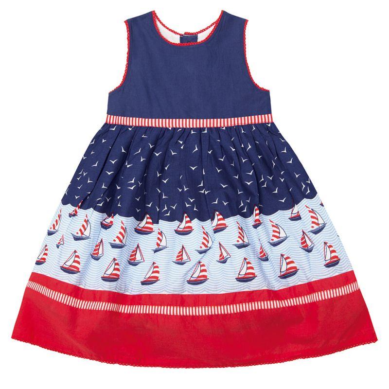 Vestido de Fiesta para Niñas Marinero
