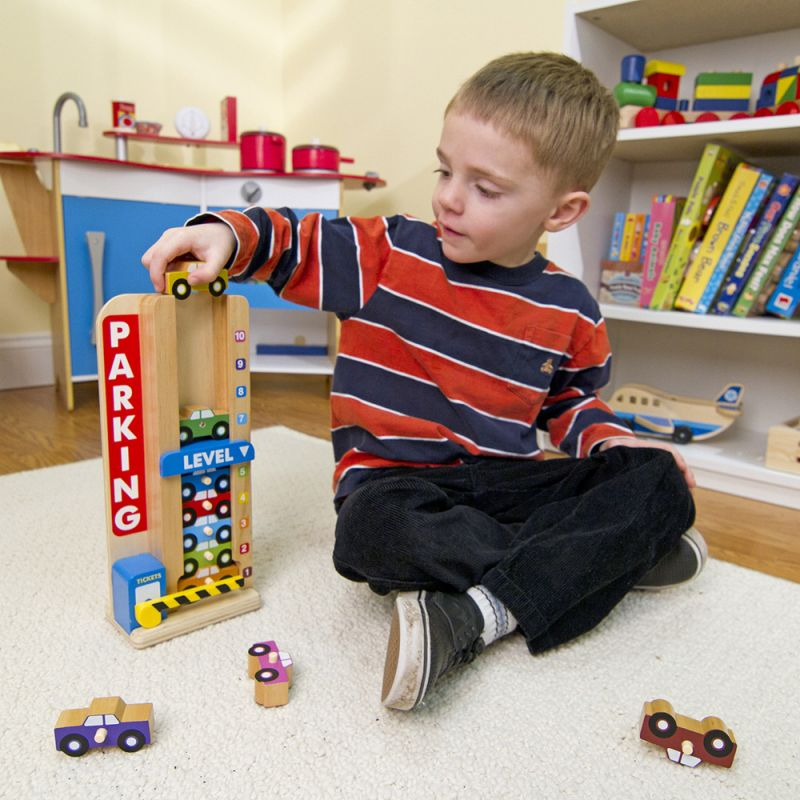 Juguete educativo de madera coches y garaje - Garaje de coches ...