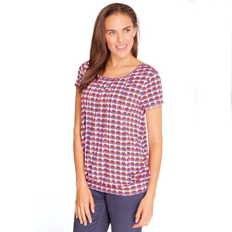 Camiseta de Embarazo y Lactancia Geo Roja
