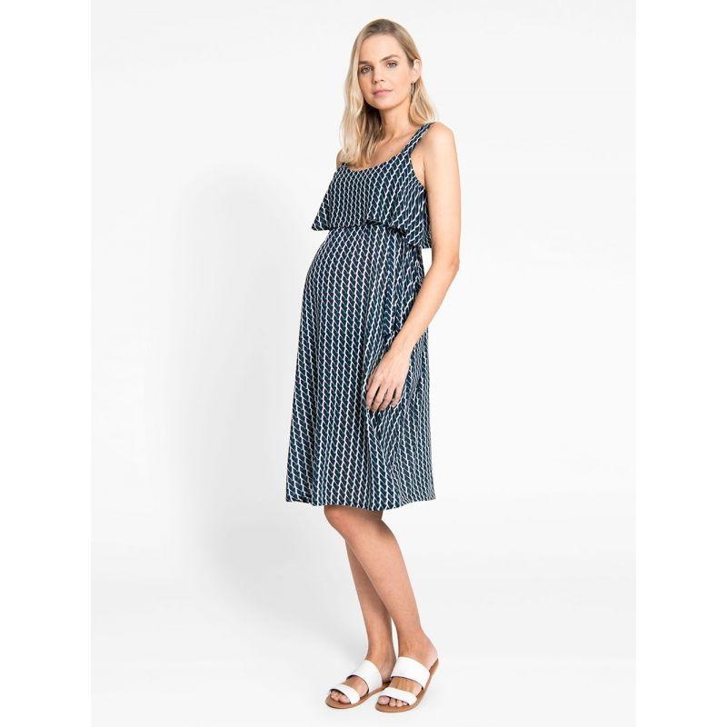 Vestido de Embarazo y Lactancia Geometric