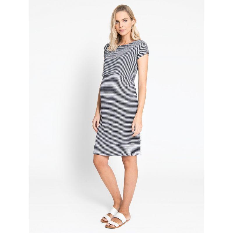 Vestido de Embarazo y Lactancia Rayas Marineras