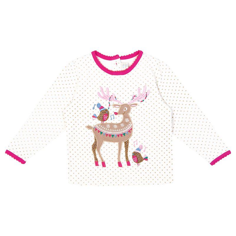 Camiseta de Niña  Reno de Navidad
