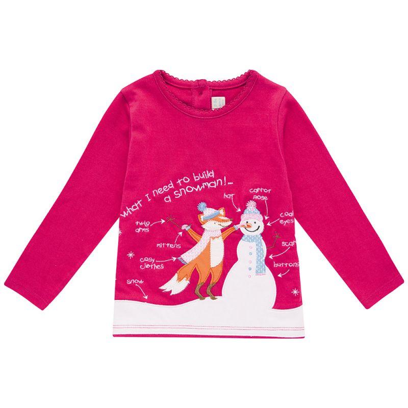 Camiseta de Niña de un Muñeco de Nieve