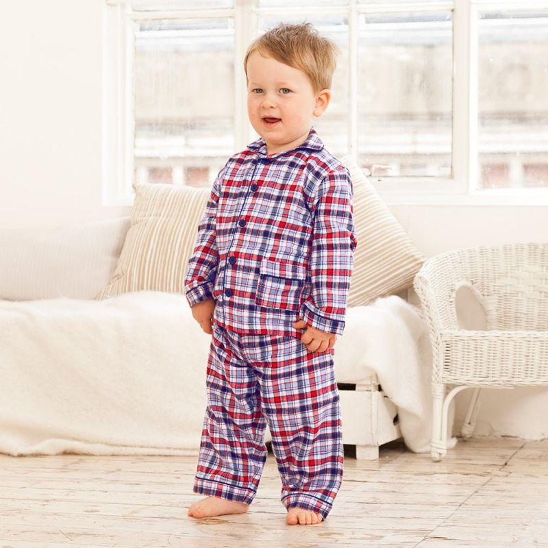 Pijama para Niño de Cuadros azules