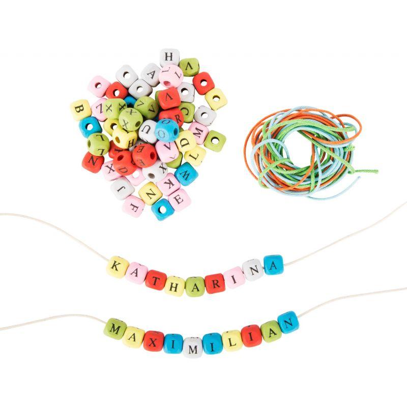 Dados con letras de Colores para hacer collares y pulseras