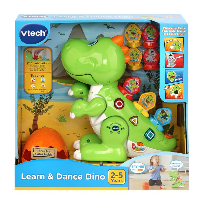 Dino verde Aprende y Baila Vtech