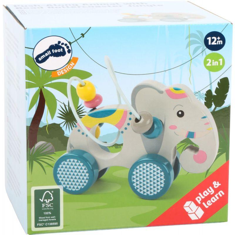 Elefante de arrastre con Circuito de Motricidad Small foot