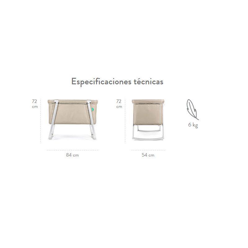 Especificaciones técnicas de la Minicuna Dream de BabyHome