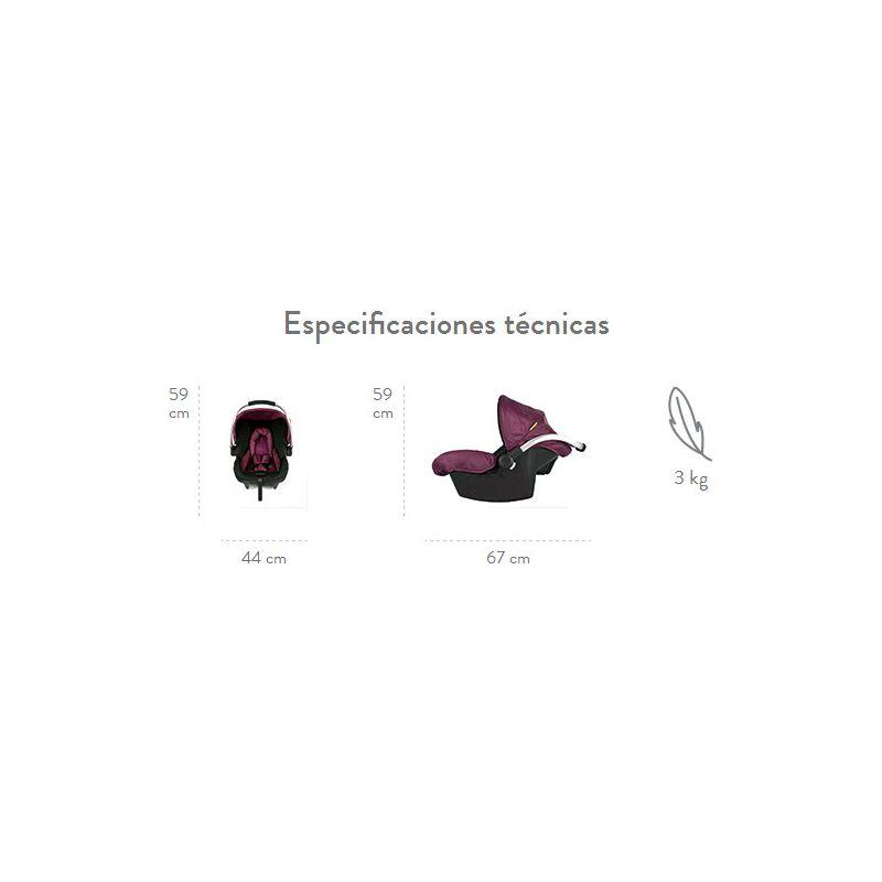 Especificaciones Silla de Coche Egg 0+ Babyhome