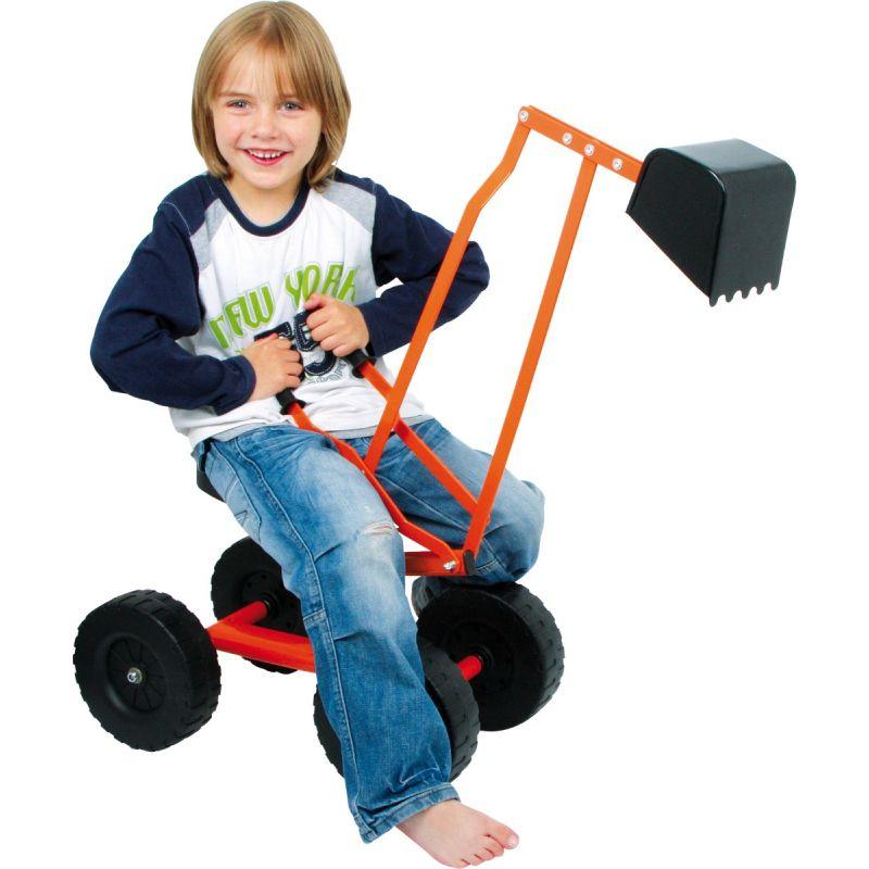 excavadora con ruedas para niños
