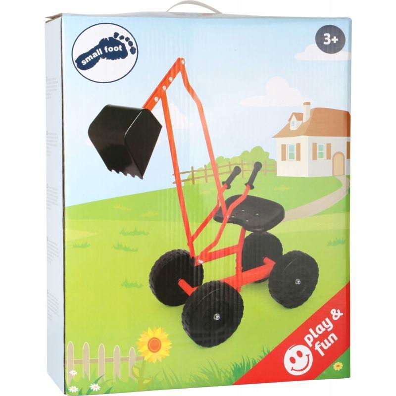 excavadora con ruedas para jugar en la arena