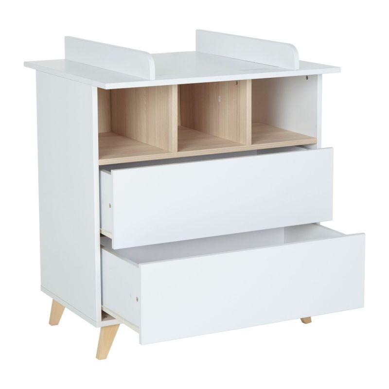 extension comoda cambiador loft de quax color blanco
