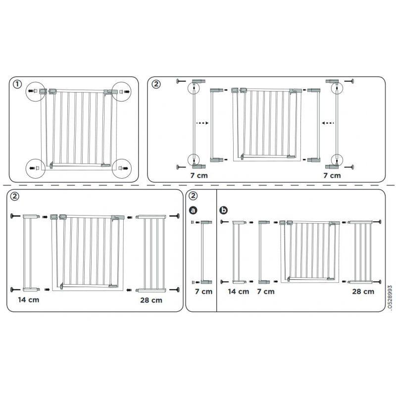 Extensión para puerta de Seguridad Safety 1st - 14 cm