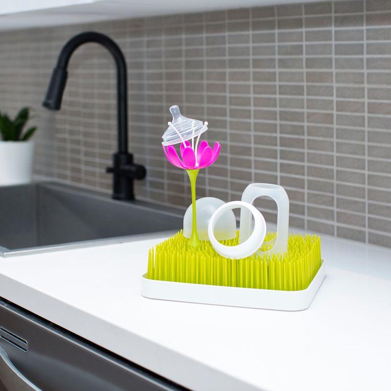 Flor para bandeja de secado Boon , color magenta/blanco