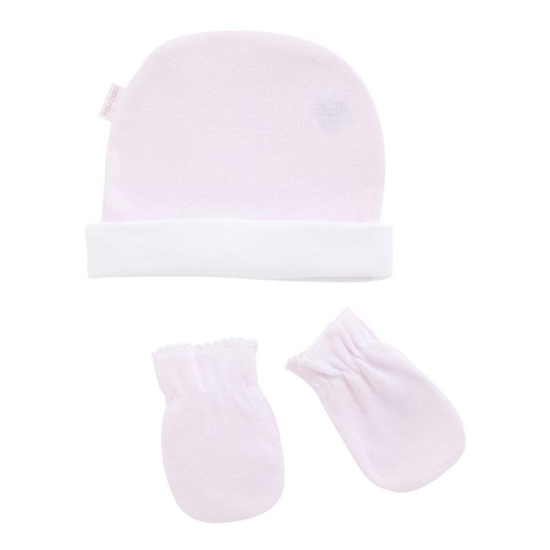 Gorro y Manoplas rosas para Bebé - Cambrass
