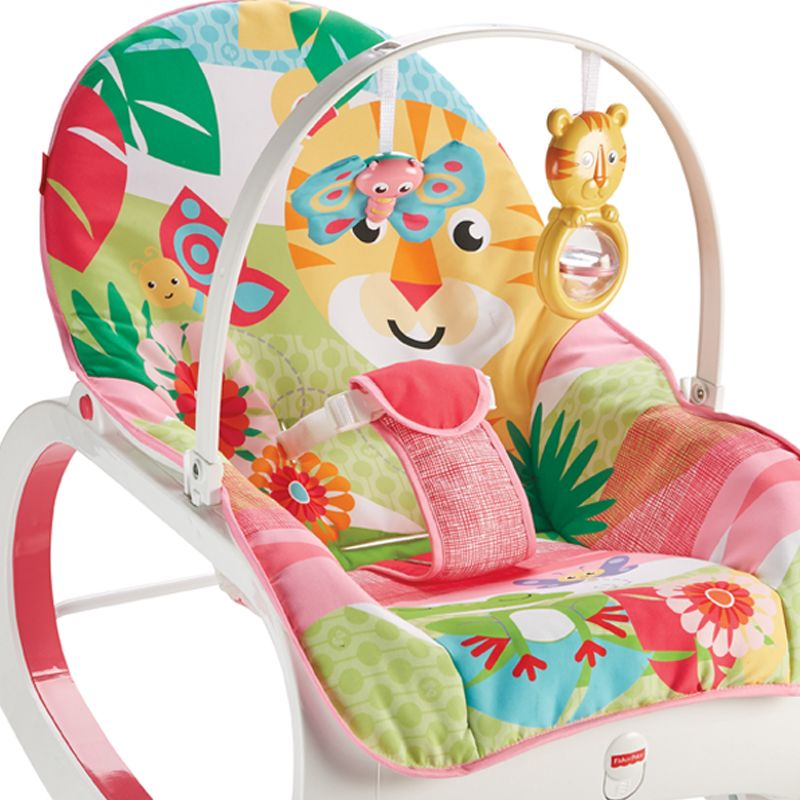 Hamaca Balancín Fisher Price Rainforest rosa