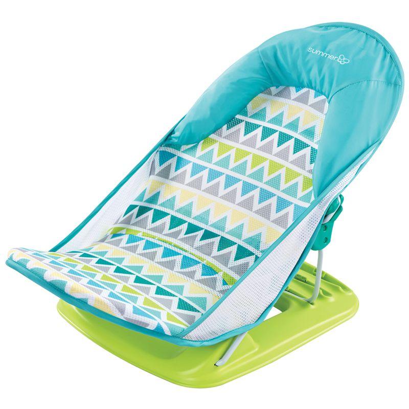Hamaca de Baño Deluxe azul triangulos - Summer Infant