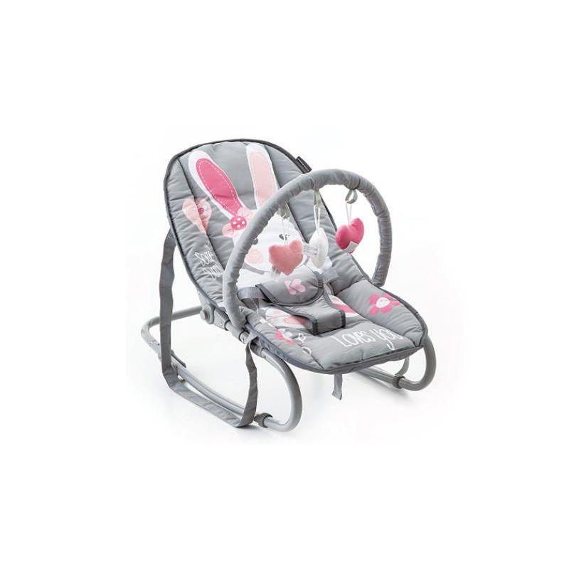 Hamaca para Bebés Foliage gris - Kikkaboo