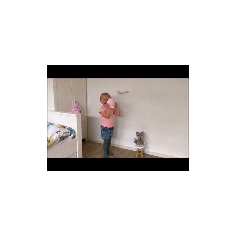 Video Lámpara Portátil Búho Mel Rosa