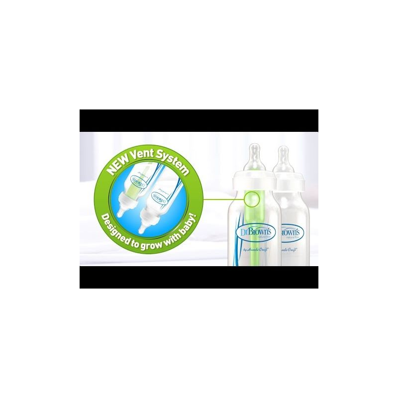 Video Pack 2 biberones 270 ml Dr Brown - Clásico