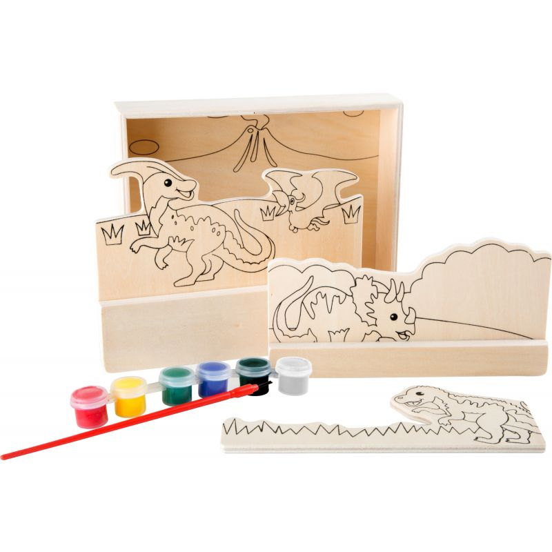 Imágenes para colorear de madera Dinosaurios