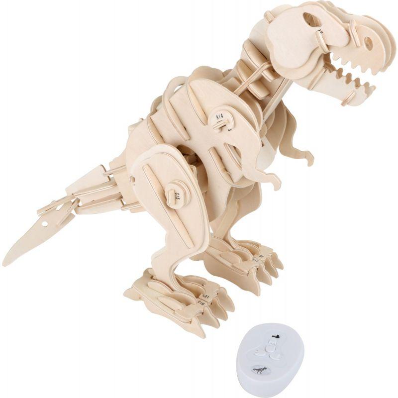 Juego de construcción de madera Dino Robot T-Rex con control remoto