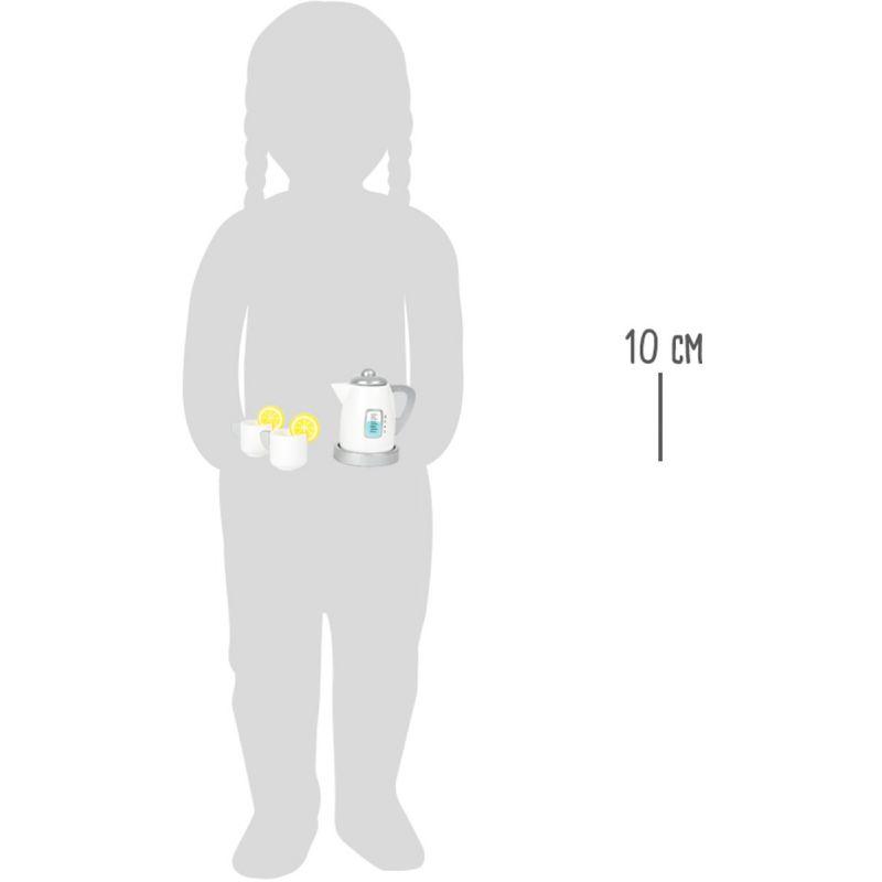 dimensiones Juego de Té con Hervidor - Juguete de Madera