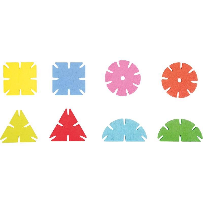 Juego para enlazar formas geométricas 240 piezas de madera