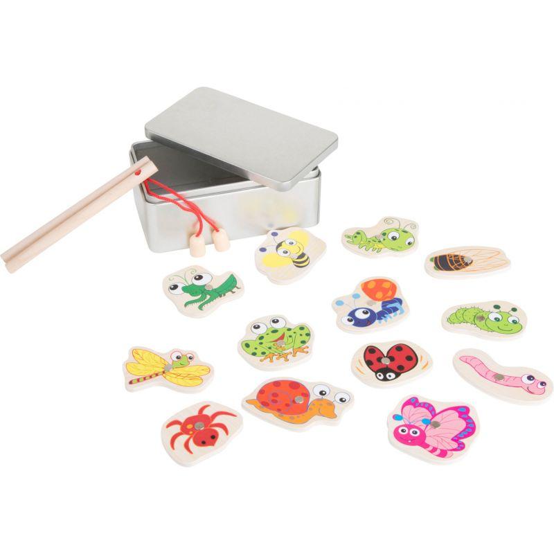 Juego de pesca en caja metálica