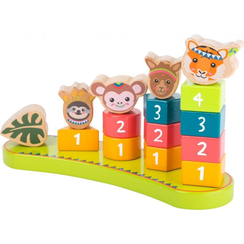 juego de madera torre de numeros