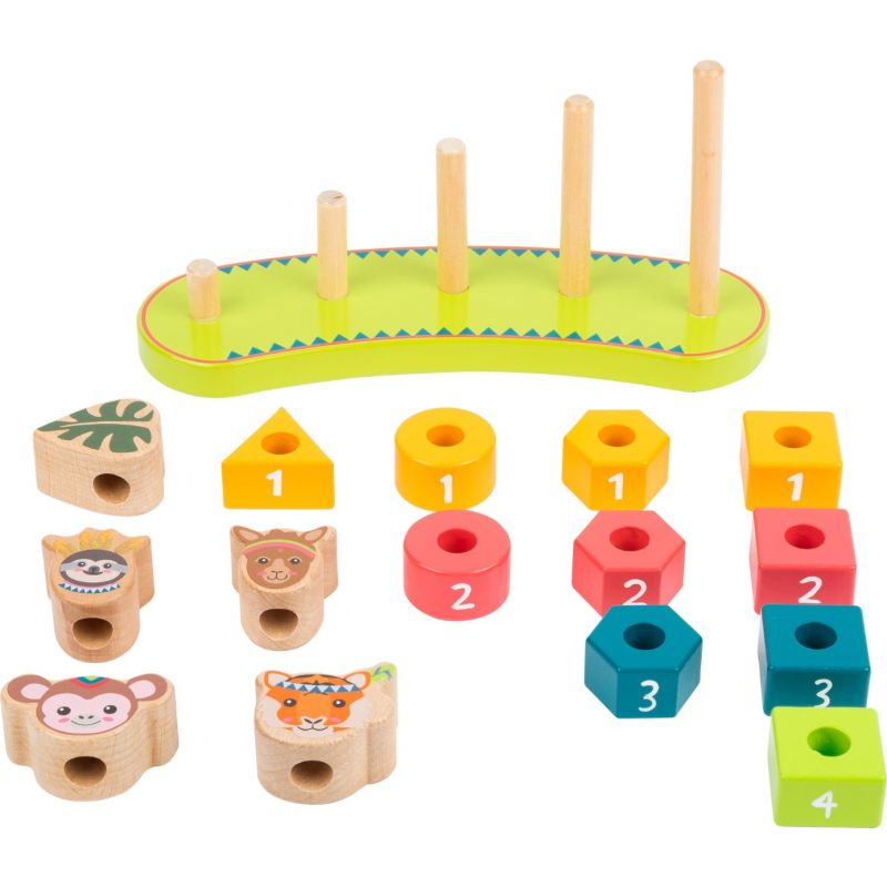 puzzle de madera numeros