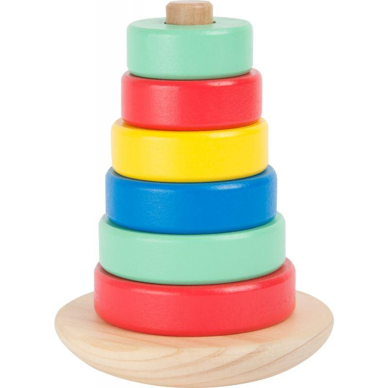 juguete de madera torre de apilar