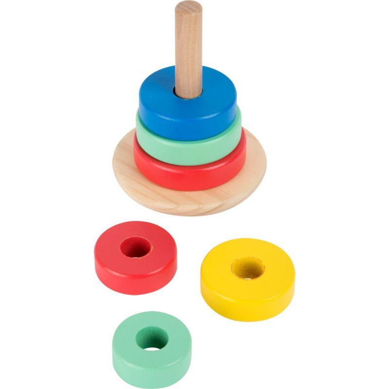 torre de madera para apilar juguete para niños