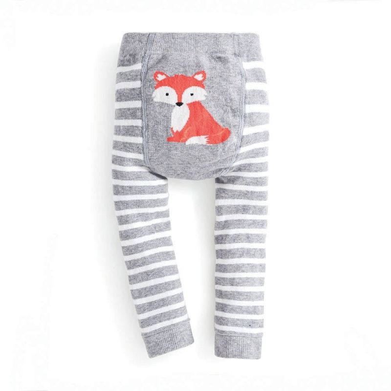 Leggings Grises Estampado zorrito