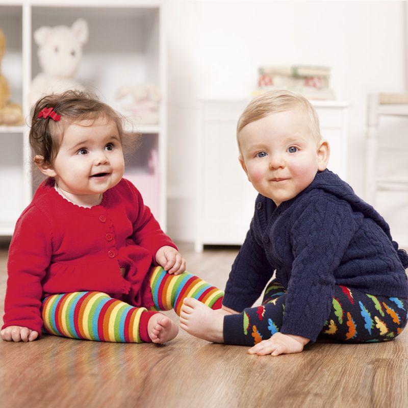 Leggings Niños Gruesos Estampado Arco Iris