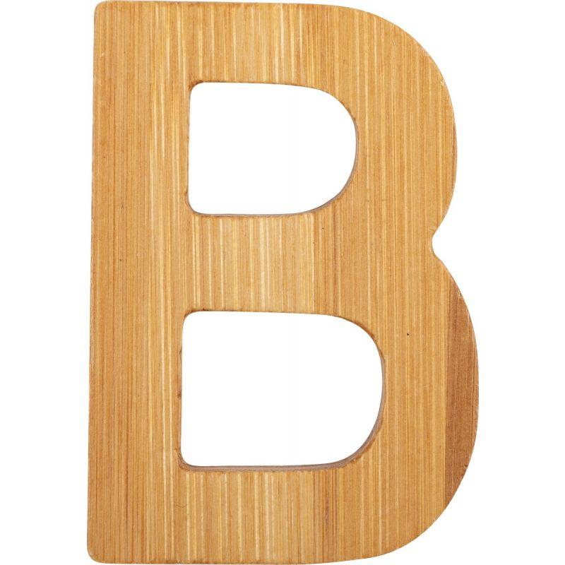 letras B de bambú decorativa