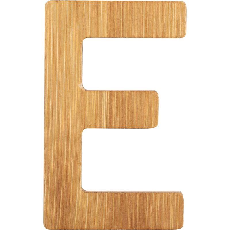 letras E de bambú decorativa