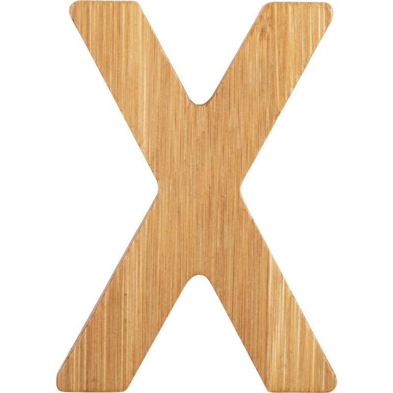 letras X de bambú decorativa