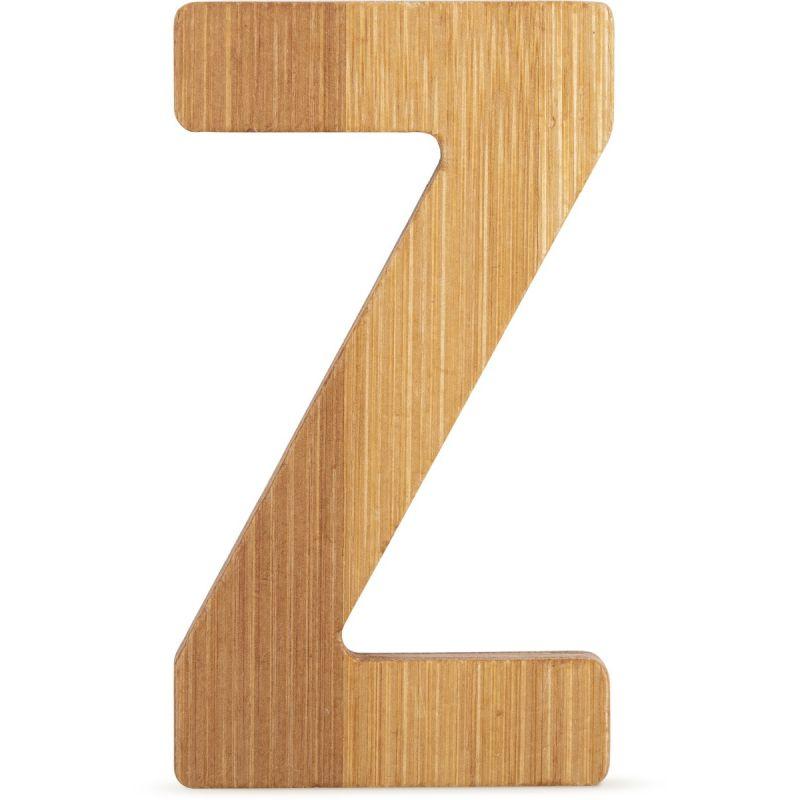 letras Z de bambú decorativa