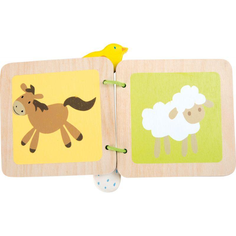 Libro de madera para bebé Granja