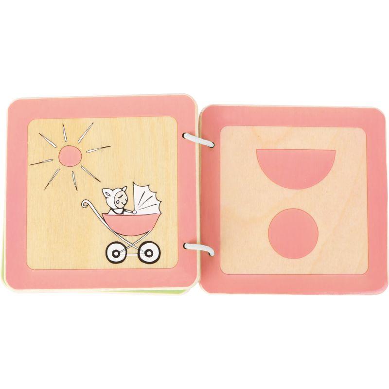 Libro de madera para Bebés Aprender las Formas