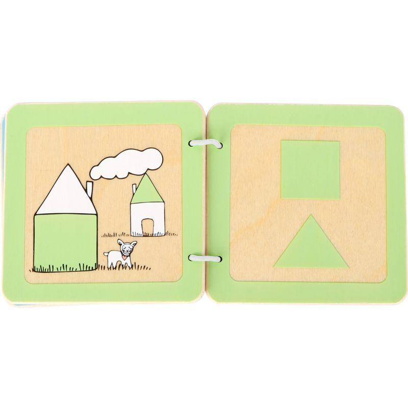 libro de madera para bebés formas