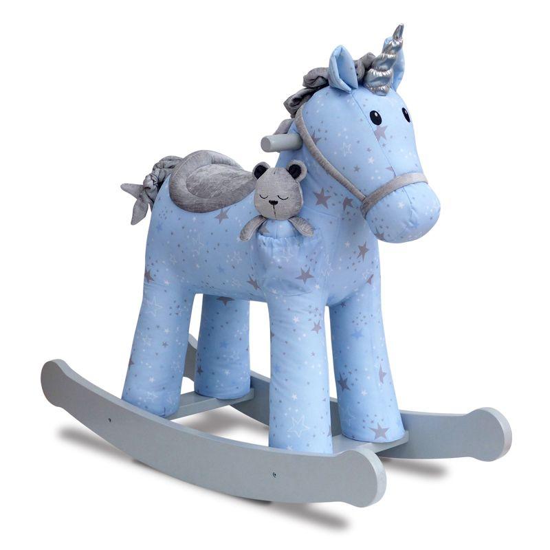 Unicornio Balancín Azul de Madera - 12m+