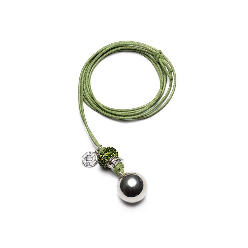 Llamador Ángeles Pedrería en color verde