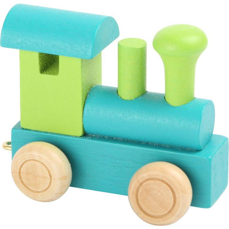 locomotora verde y turquesa tren de colores de numeros