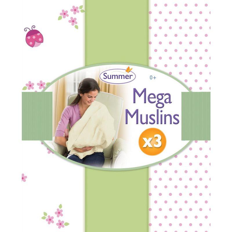 Lote de 3 Muselinas para Bebé Mariquita ExtraGrandes de la marca Summer Infant