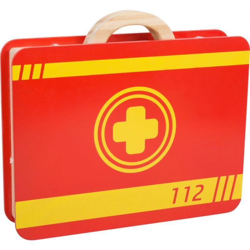 Maletín Médico - Juguete de Madera - 14 piezas